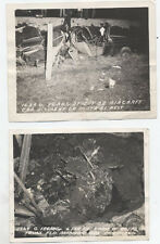 SET OF TWO OFFICIAL AIR FORCE PHOTOS OF CAR ACCIDENT - MADISON, WISCONSIN