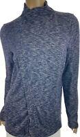 G.H.Bass & Co Cardigan Sweater Jacket Navy Combo Long Sleeve Zip Front