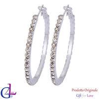 Orecchini donna argento Swarovski Elements originale G4Love cristalli strass