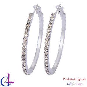Orecchini donna argento oro Swarovski Elements originale G4Love cristalli cerchi