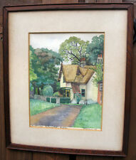 1946 Painting South Lodge Cottage Bullwood Hall Hockley Essex Watercolour Framed