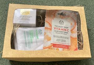 The Body Shop Oils Of Life Revitalising Cream Vitamin C Sheet Mask Headband Gift
