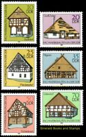 EBS East Germany DDR 1981 - Half-timbered buildings (II) Michel 2623-2628 MNH**