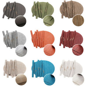 5 Pieces Oval Placemat Non-Slip Heat Insulation Mats Restaurant Tableware Mats