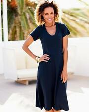 Cotton Traders Tummy Control Dress Navy Size 18 RE076 GG 10