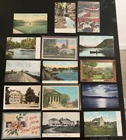 Lot of 15 Original Vintage Postcards - New York - Hudson River, Syracuse +