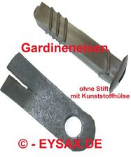Gardineneisen ohne Stift mit Kunststoffhülse, Made in GDR
