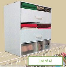 "Lot of 4 - 12"" Deep Multi-Use Closet Storage Organizers"
