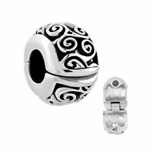 Pandora Charm Bead Vintage Irish Jewelry Celtic Flower Knot Clip Lock Stopper Us