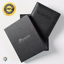 Coach Passport Case Wallet USA Cover Mens Leather Checkbook Holder Luxury Gift