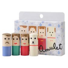 [SHISEIDO] LIP AMULET Tinted Lip Balm Lanolin Lipstick 4 Pieces Gift Set NEW