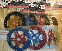 MCS Alloy Sprocket & Spider 33t or 39t for BMX Cruiser Racing Bike COLOR Choice