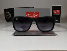 New Ray-Ban Justin RB4165 601/8G 54MM Wayfarer Matte Black/Grey Gradient