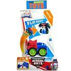 Transformers OPTIMUS PRIME Truck Trailer flip racer Playskool Heroes figure