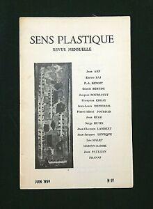 REVUE D'ART MODERNE . SENS PLASTIQUE N°IV (4) . JUIN 1959