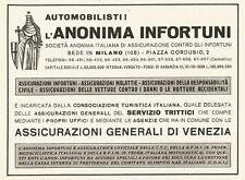 W2778 Assicurazioni Generali di Venezia - Anonima Infortuni - Pubblicità 1940