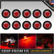 Red 10 Pods Led Rock Lights For Jeep Off Road Truck Utv Atv 4X4 Under Body 3/4""