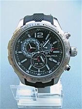 NEW in box Nautica Herren NST 30 Chronograph Herrenuhr schwarz Silikonband NAD15512G