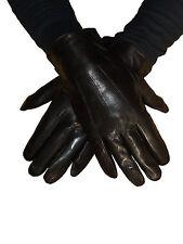 Gants homme ville - Cuir  noir fourré - T. L 9,5 / 10 - Neuf
