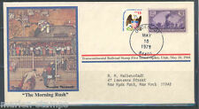 "UNITED STATES NORMAN ROCKWELL SPECIAL COVER ""THE MORNING RUSH"" AS SHOWN"