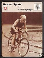 HENRI DESGRANGE Founder of the Tour de France Cycling 1978 SPORTSCASTER CARD
