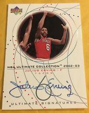 2002-03 Upper Deck NBA Ultimate Signatures Collection Julius Erving Sixers Auto
