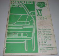 Werkstatthandbuch Renault Clio I Typ 57 Motor E 7F 708/750 E7J 601/754 F3P 710!