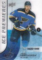2015-16 Upper Deck Ice #103 Joel Edmundson RC /1999 St. Louis Blues