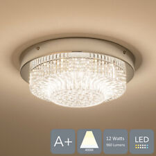 AUROLITE LED Flush Ceiling Light with Clear Acrylic Shade, Natural White (4000K)