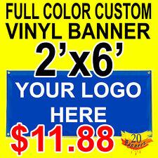 Full Color Custom Vinyl Banner 2'x6'