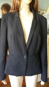 Portmans black fitted  jacket 12 VGC FREE POST