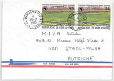 CA282 1985 Ivory Coast *BINGERVILLE* Airmail Cover MISSIONARY VEHICLES CROPS