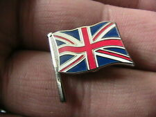 ENAMEL UNION JACK MOTORCYCLE BIKER PIN BADGE BRITISH FLAG UK MOTORBIKE RACING