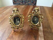 Antique Art Deco Gold Leaf Matching Frames