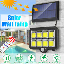 160 LED Solar Wall Flood Lamp Motion Sensor Outdoor Garden Bright Street