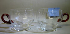 Pair crystal cups / glassware