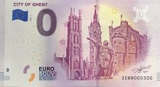 BILLET 0 EURO CITY OF GHENT BELGIQUE  2019-1  NUMERO 300