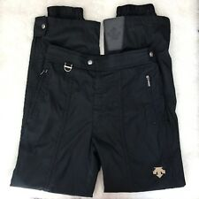 Descente Men's Solid Black Ski Snow Pants Insulated Nylon Snowboard Sz. US 40
