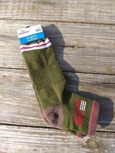 Youth Boy Flag Ankle Socks Patriotic Flag Olive Tree Green Size 6-12 One Pair