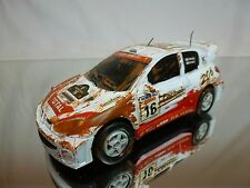 CHINA PLASTIC PEUGEOT 206 - RALLY No 16 - WHITE L11.0cm FRICTION - GOOD