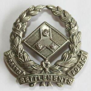 Straits Settlements Pol Badge Colonial Commonwealth Singapore Malaya Malaysia
