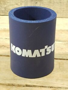 KOMATSU Navy Colored Cozy Cooler For Soda & Beer Cans
