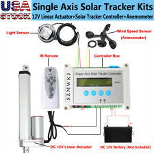 12V Single Axis Solar Panel Tracker Controller W/ Linear Actuator Anemometer Kit