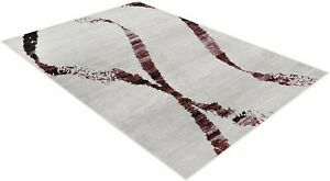 Rugs 8x10 Area Rug Abstract Modern Contemporary swirls 5x7 Burgundy Ivory Carpet