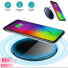 15W Qi Wireless Fast Charger Charging Pad Dock For iPhone Samsung LG Cell Phone
