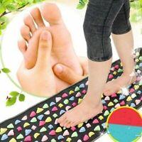 Reflexology Walk Stone Foot Massager Mat Pain Relieve Relief Pad Health Care