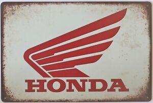 Honda Motorcycle Metal Garage Sign Wall Plaque Vintage mancave
