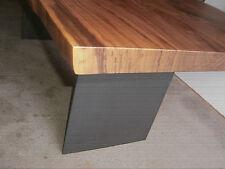 Nußbaum Esstisch Baumkante  Stahlwangen,  Platte 40mm voll massiv 200 x 100 cm