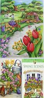 Coloring Book Young Adult Spring Scenes Anti Stress Designs Relax Painting Skill