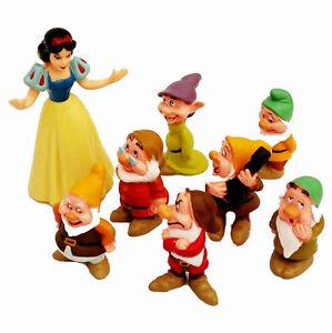 Schneewittchen mit 7 Zwerge Figuren Cake Geschenk Topper Dekoration Spielzeug